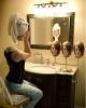 kadın yüz maskesi