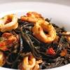 tagliatelle neri with shrimp
