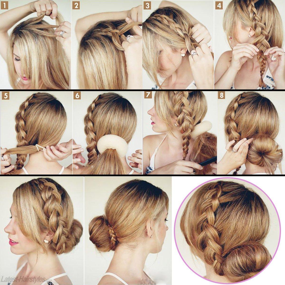 Прически для женщин на длинные волосы в домашних условиях фото пошагово