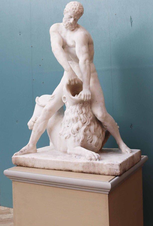 herkül ve nemea aslanı nın spektaküler heykeli
