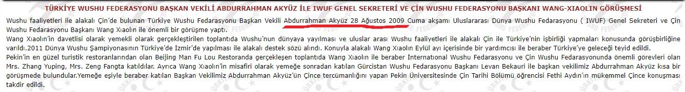 türkiye wushu federasyonu rezaleti