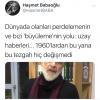 haşmet babaoğlu nun uzay ile ilgili tweeti