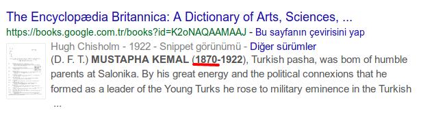 atatürk ün doğum tarihi