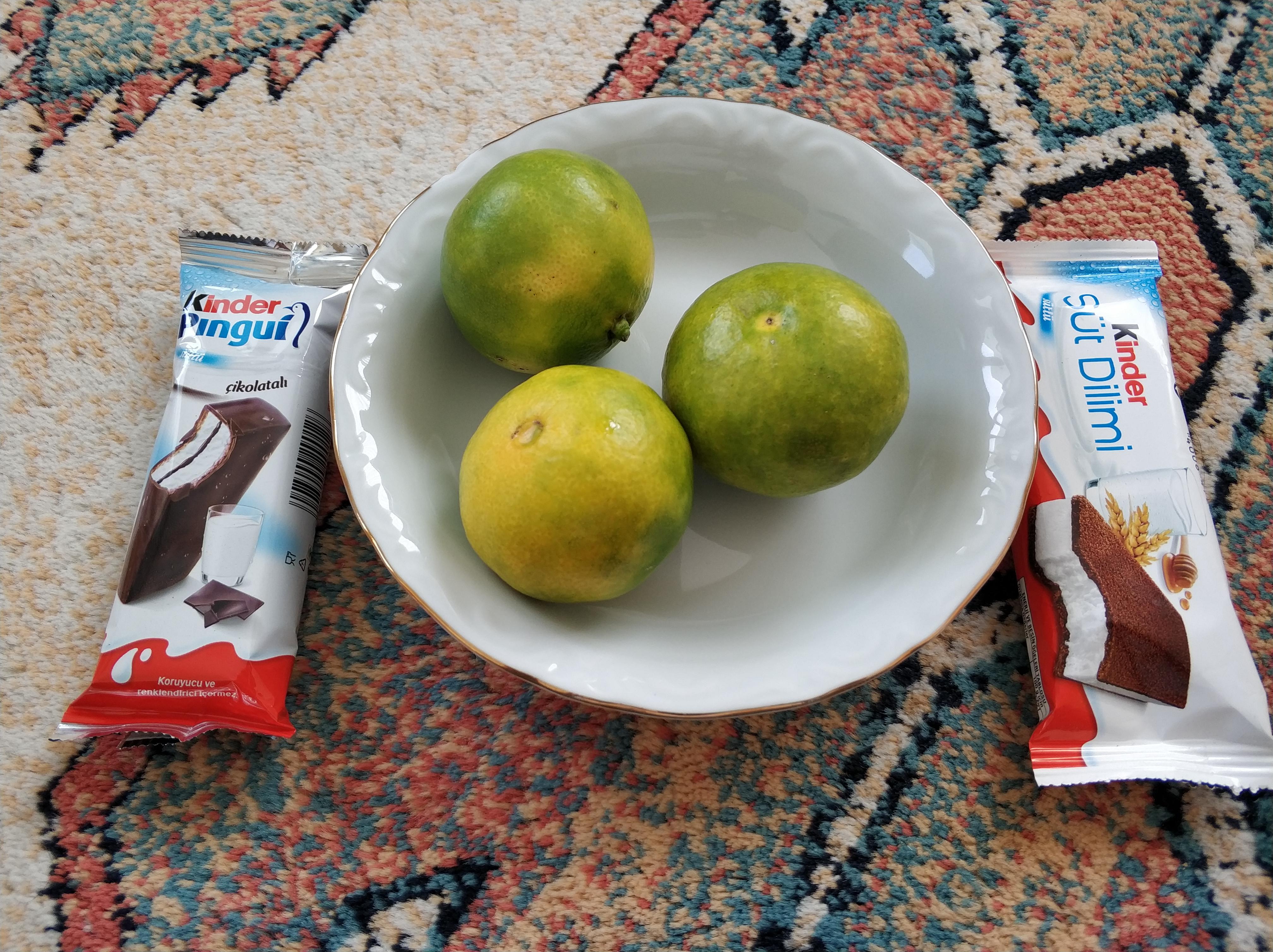 pingui vs mandalina vs süt dilimi