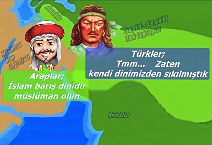 türkler zorla müslüman oldular