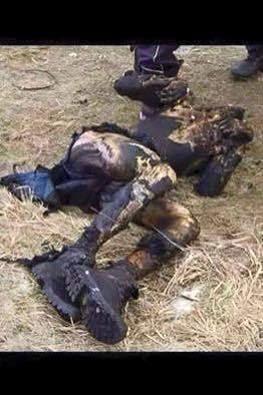 yakılarak öldürülen insan