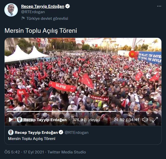 cb erdoğan ın mersin deki açılış töreni