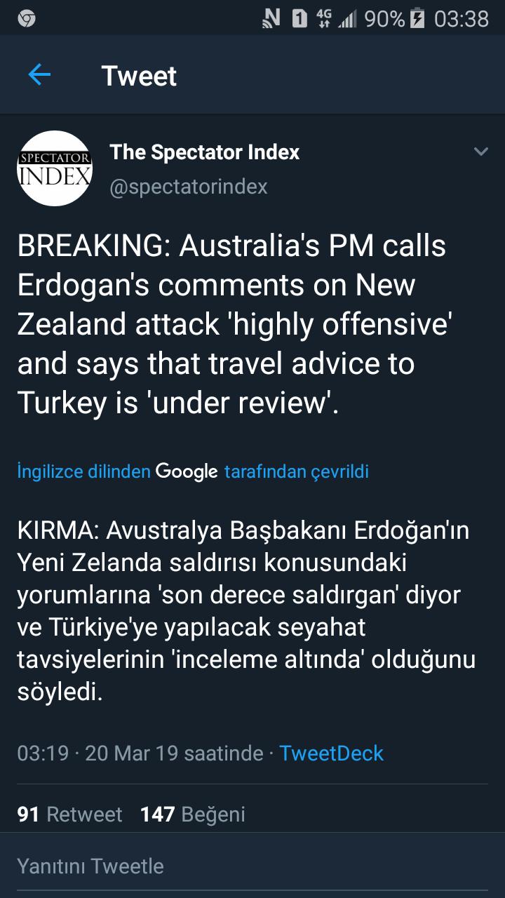 avustralya nın türkiye büyükelçisini çağırması