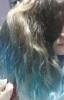 saçları allaha inanmıyom mavisine boyayan kız