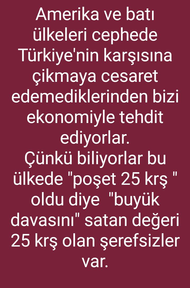 türkiye ekonomisini yok ederim