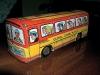 eski teneke otobüsteki şoför çizimi