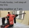 üst komşunun bir türlü bitmeyen tamirat işleri