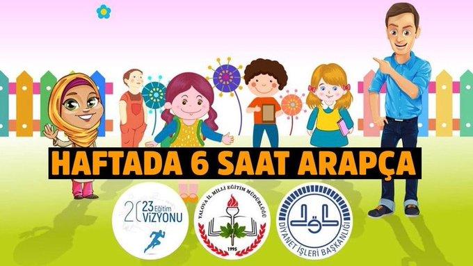 anaokullarında haftada 6 saat arapça din eğitimi