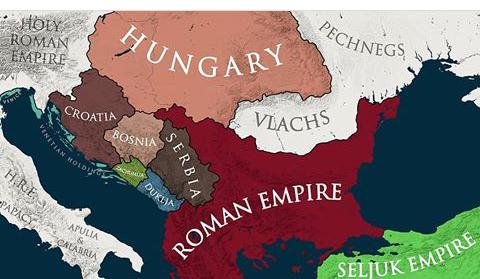 1090 yılı balkanlar haritası
