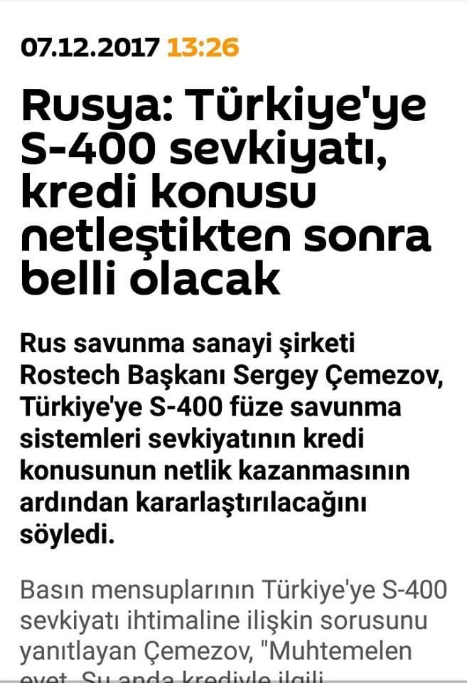 rusya nın s400 kaporasının üzerine yatması