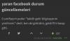 yaran facebook durum güncellemeleri