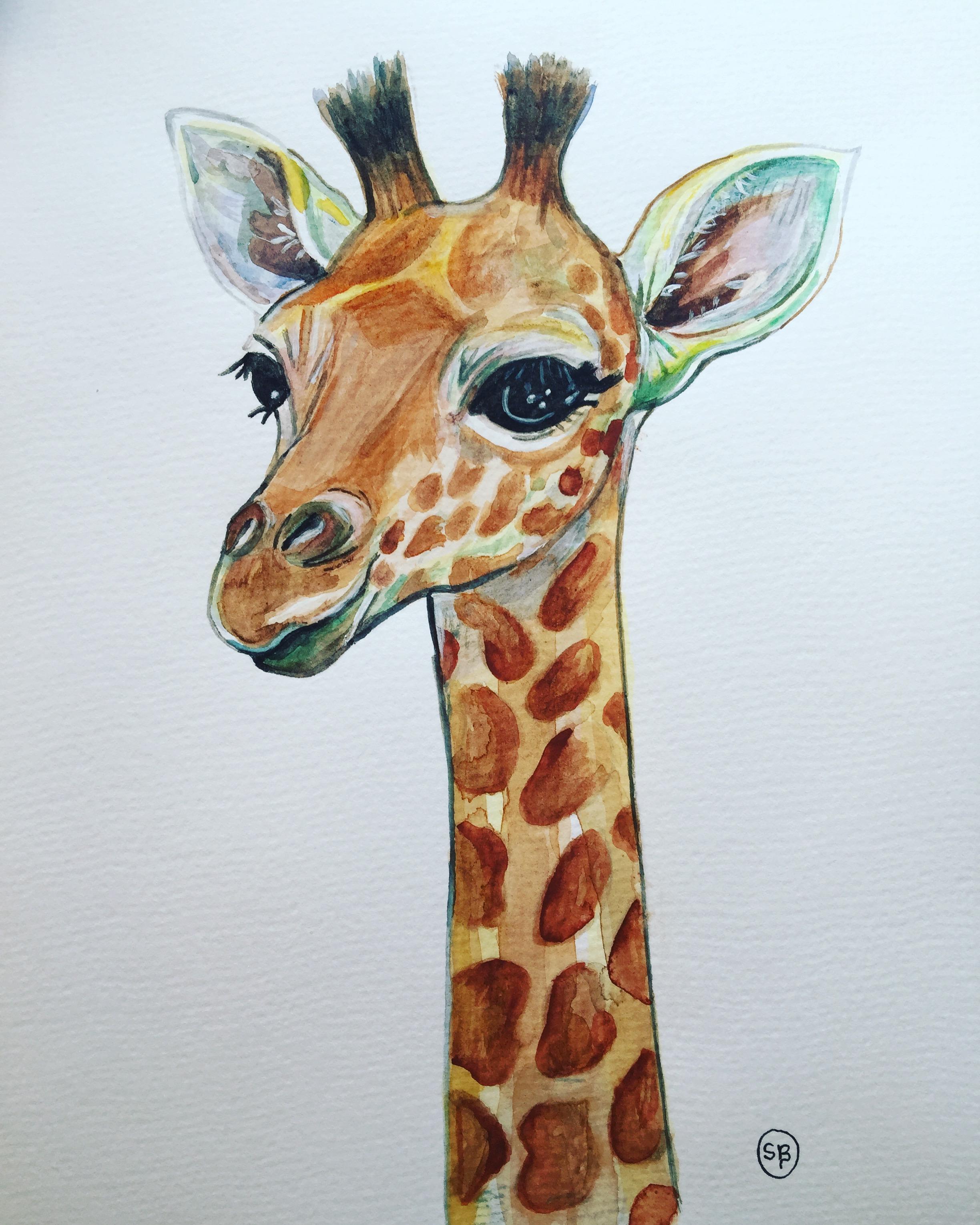 Картинки с жирафами рисованные