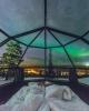 finlandiya daki kuzey ışıkları izleme iglooları