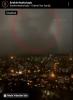 istanbul da görüntülenen silüetli yağmur bulutları