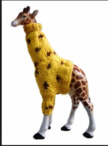 zürafaya atkı örmek