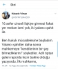 twitter daki kadın beyanı esastır hakkındaki flood