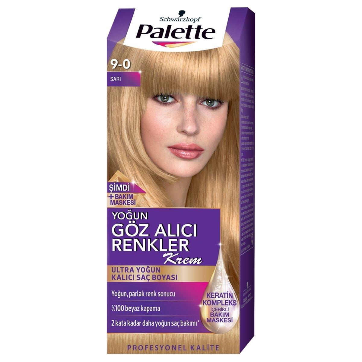 palette yoğun göz alıcı renkler saç boyası