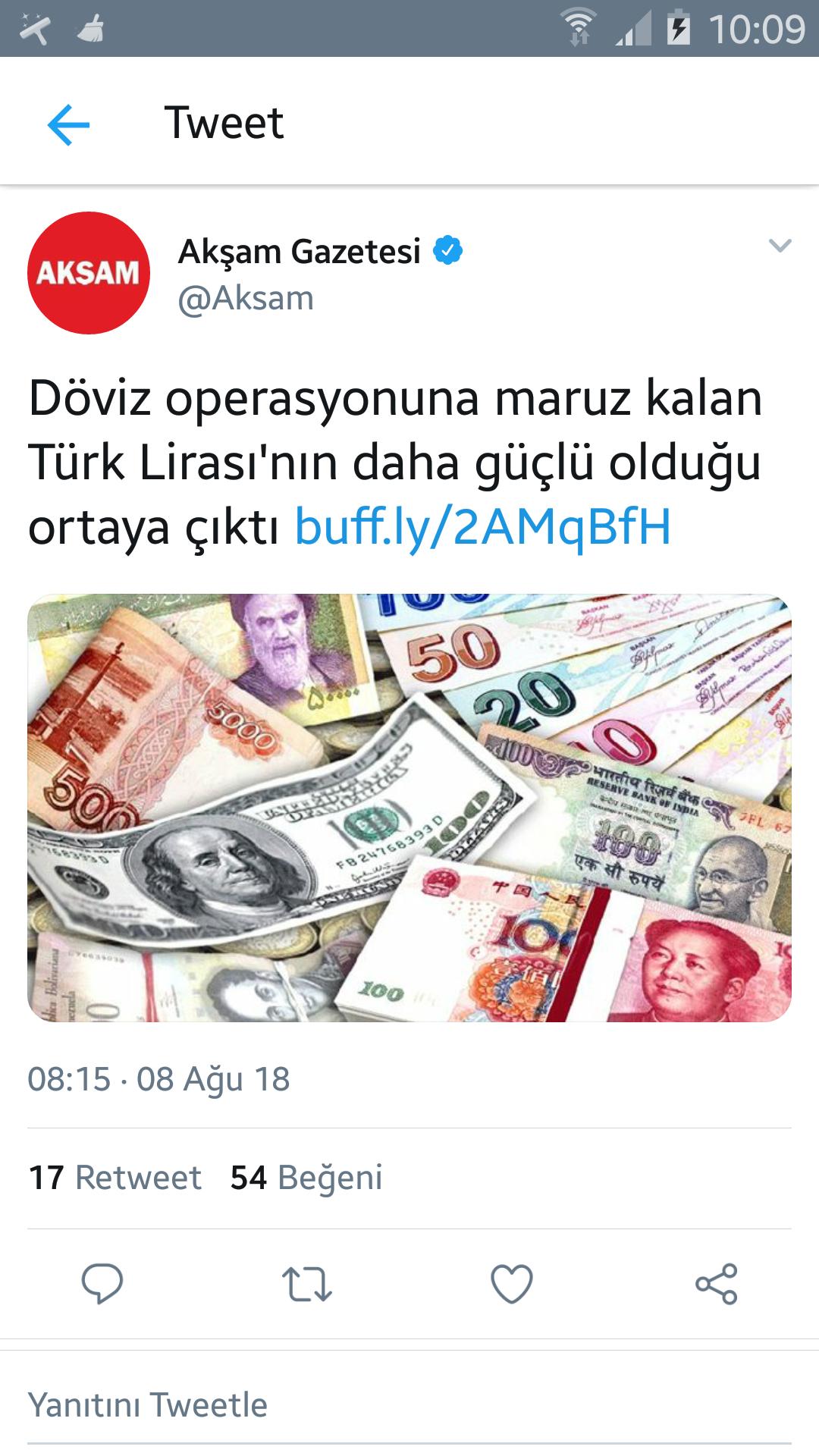 10 ağustos 2018 dolar kuru