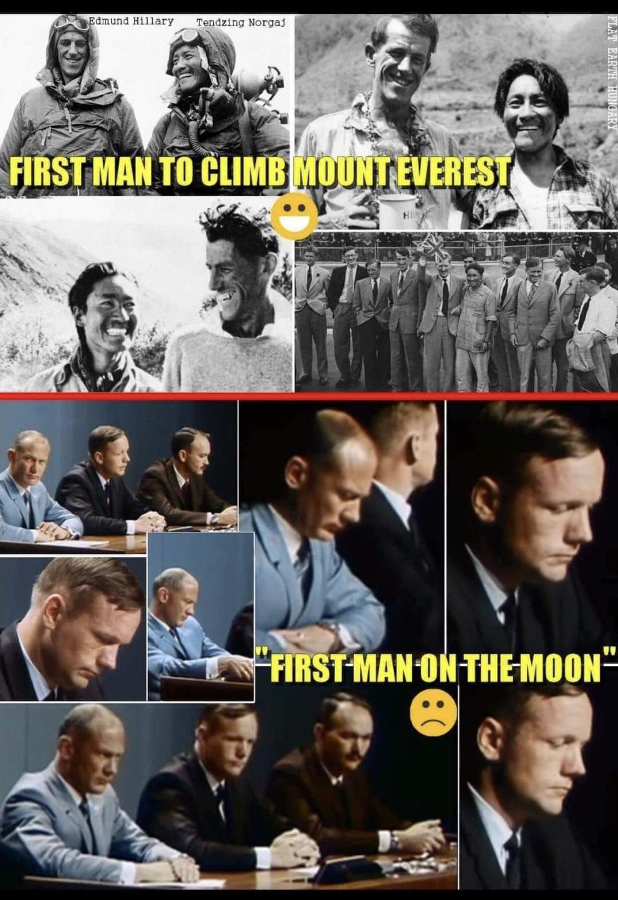 ay a ayak basıp yüzü düşen astronotlar