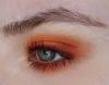 turuncu göz makyajı